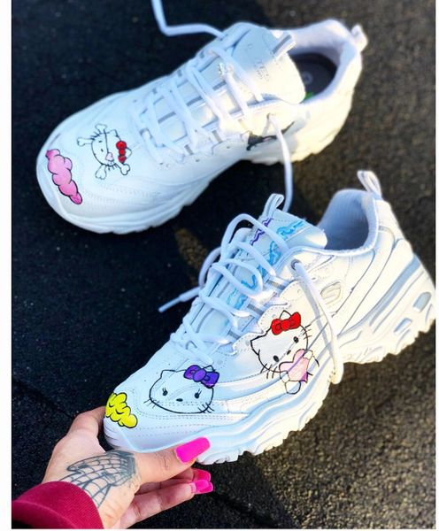 Any Character Custom Hand Painted design on Skechers Canvas