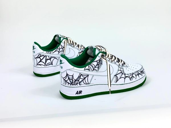 GrEeN GoBlin HAND PAINTED AF1'S