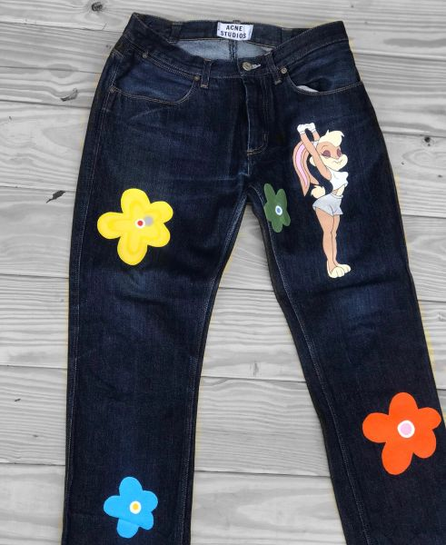 Hand Painted Acne Studio Jeans