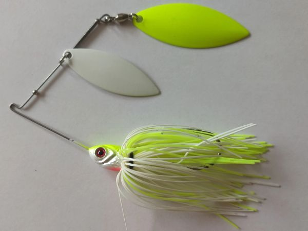 Spinner Bait - Chartreuse/White