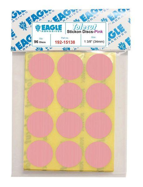 192-15138 Tolecut Stickon Discs Pink- 96 Discs