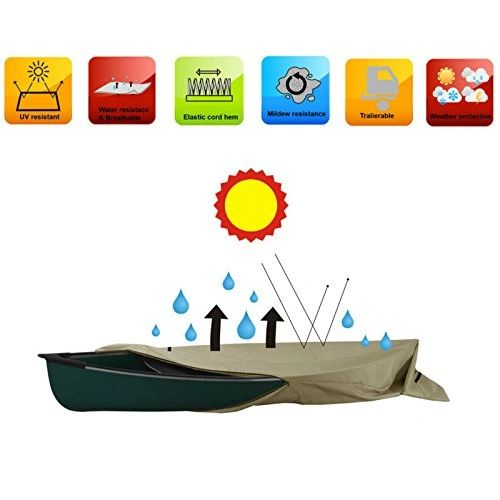 Heavy Duty H2o Canoe Kayak Cover for boats up to 13' Foot Long Small