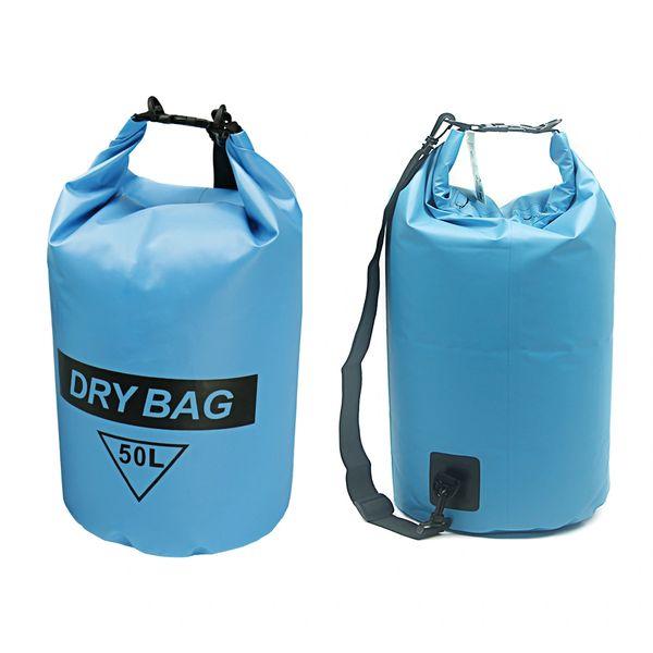 H2o Blue Heavy Duty 50 L Dry Bag With Strap