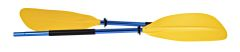 H2o Asymmetrical Kayak Paddle 220cm Yellow Blade Blue Shaft