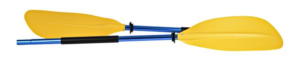 H2o Asymmetrical Kayak Paddle 220cm Yellow Blade Blue Shaft
