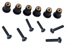 M5 Neoprene Well Nut With 20mm A4 BLACK Stainless Steel Pozi Screw (Pack 6) (K)