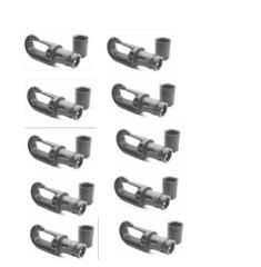 Nico Auto Locking Super Strong Shock Cord Hooks Pack 10 6 mm - 8 mm