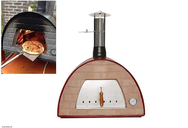 Maximus Red Wood-fired Pizza Oven With FREE COVER Pre Order via email please for Late August delivery