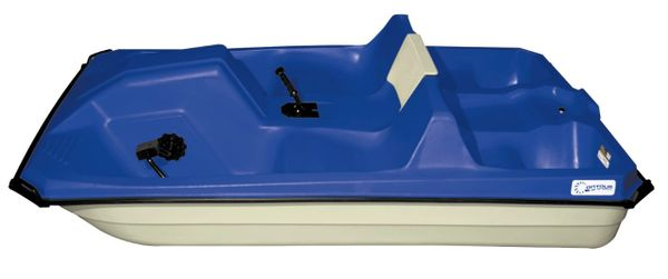 CAPTAIN V 5 Seat pedal boat (Blue Deck with White Hull)