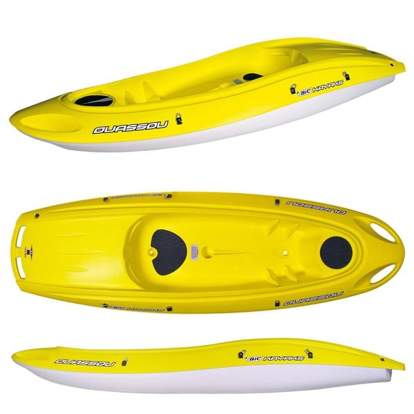 Bic Bic Ouassou 1+1 Person Kayak Including Delivery Paddle and Back Rest Yellow