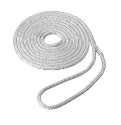 Soft Nylon 4.5 m White 10mm Double Braided Mooring Line/Canoe Painter
