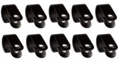 P CLIPS BLACK W:9.5 mm Max Dia mm 11.1 DIA PACK OF 10