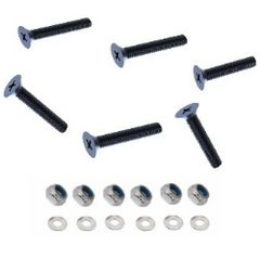 BLACK M5 A4 Stainless Steel Machine Screws, Washers and Lock Nuts (O)