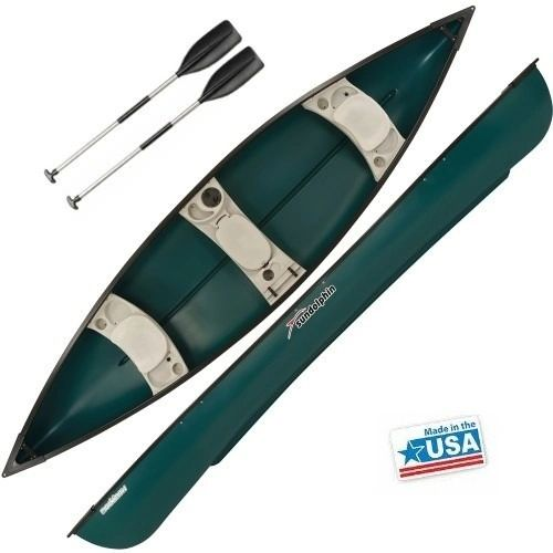 Mackinaw 156 Deluxe Canoe Green Includes 2 x Paddles