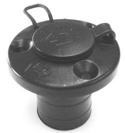 Multipurpose round flush mount with cap and leash