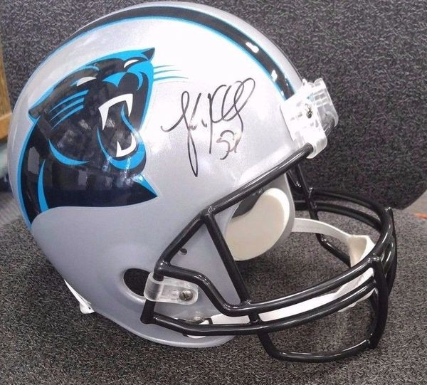 sale retailer 79b70 547e7 Carolina Panthers Luke Kuechly Full Size Rep. Autographed Helmet