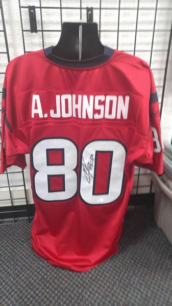 official photos a2377 bfe1c Houston texas Andre Johnson Autographed Custom XL jersey