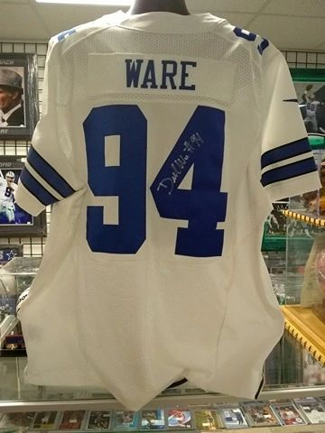 low priced 06fce 1c237 Dallas Cowboys Demarcus Ware Autographed Authentic Jersey Size 56 Cowboys  Authenticated