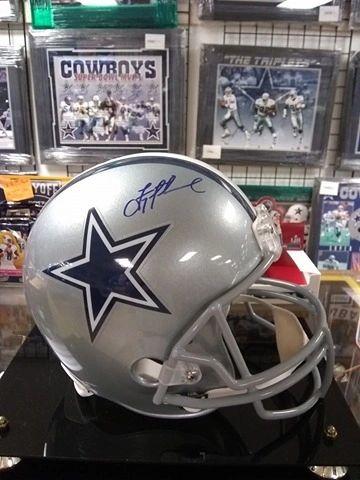 the best attitude e98e6 a233b Dallas Cowboys Troy Aikman Autographed Full Size Replica Helmet JSA Cert