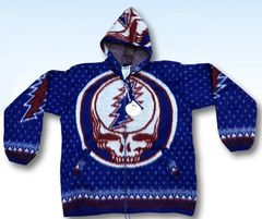 Grateful Dead Blue SYF Alpaca Style Jacket
