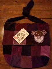 Grateful Dead Patch Cord Messenger Bag with Dancing Bear Applique