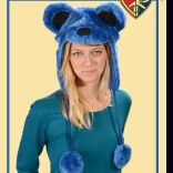 Grateful Dead Dancing Bear Furry Flap Hat