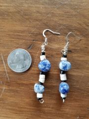 Blue Earth Stone Earrings