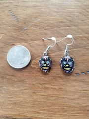 Black Day of the Dead Earrings