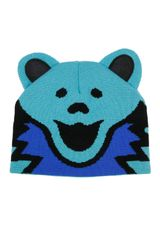 Grateful Dead Knit Beanie Bear Hat Blue