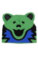 Grateful Dead Knit Beanie Bear Hat Green