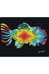 Jerry Garcia Fish Fleece Throw