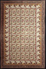 Indian Elephant Lotus Tapestry