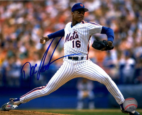 Dwight Gooden autograph 8x10, New York Mets