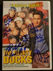 The Mighty Ducks signed DVD: 7 actors, Matt Doherty, Brandon Adams, Aaron Schwartz, Vincent LaRusso, Garette Henson, Jane Plank, Danny Tamberelli