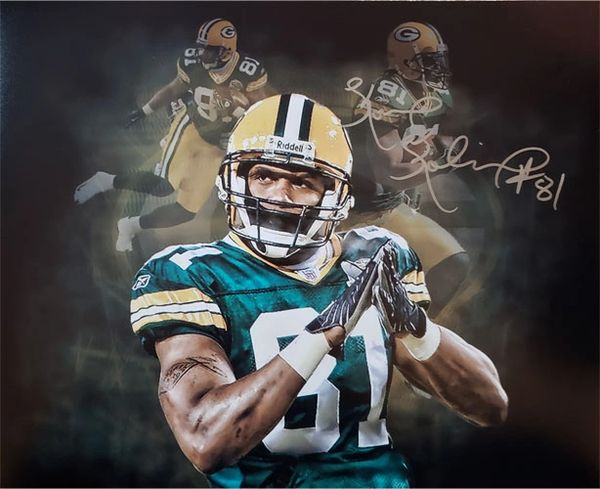 Koren Robinson signed 16x20 custom photo, Green Bay Packers