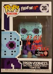 Kane Hodder signed Jason Vorhees 8-bit Funko Pop, Game Stop Exclusive