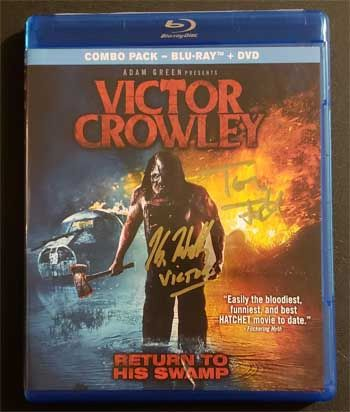 "Kane Hodder and Tony Todd signed Victor Crowley DVD, ""Victor"""