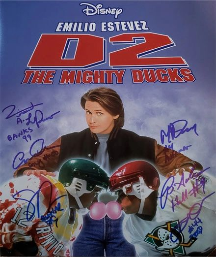 Mighty Ducks 2 11x14 custom photo, SIGNED BY 6 CAST MEMBERS!! RARE!