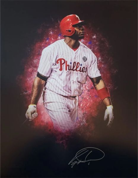 Ryan Howard autograph 16x20 custom photo, Philadelphia Phillies