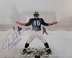 Jon Dorenbos autograph 16x20, Philadelphia Eagles, with inscription