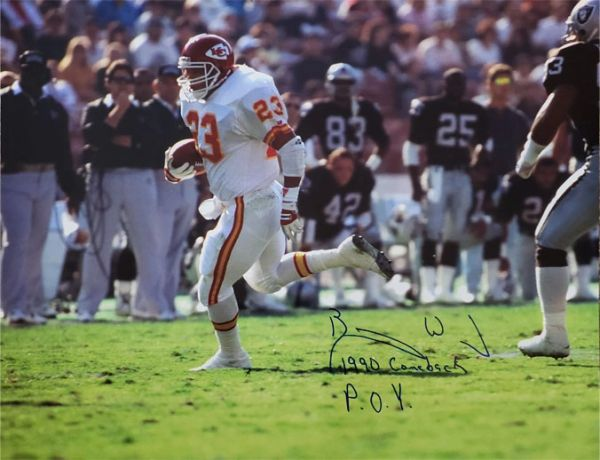 Barry Word autograph 16x20, Kansas City Chiefs, with inscription