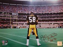 Jack Lambert autograph 11x14 photo, Pittsburgh Steelers, HOF