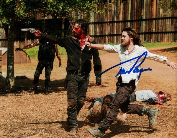 Tom Payne autograph 8x10, The Walking Dead