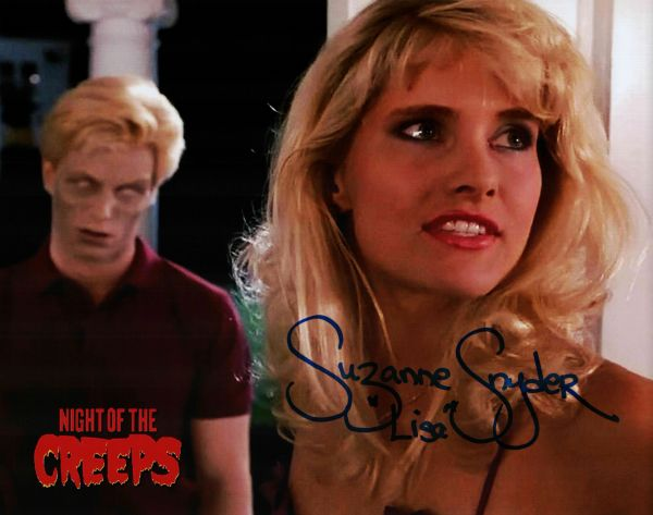 Suzanne Snyder autograph 8x10, Night of the Creeps