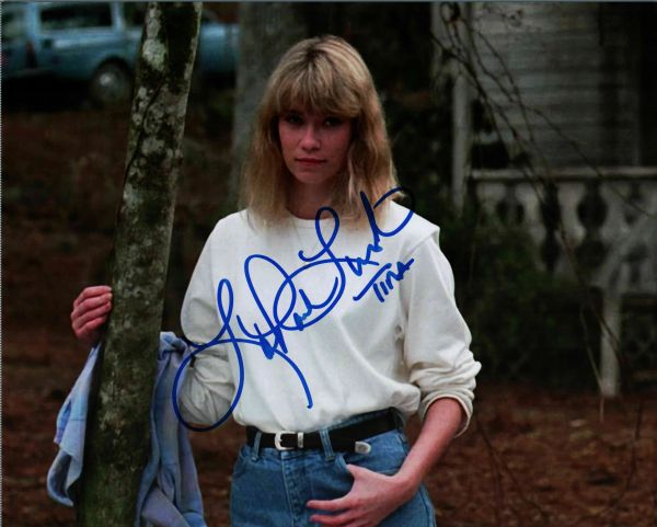 Lar Park Lincoln autographed 8x10, Friday the 13th part VII, Tina