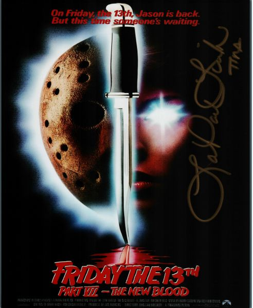 Lar Park Lincoln autograph 8x10, Friday the 13th part VII, The New Blood