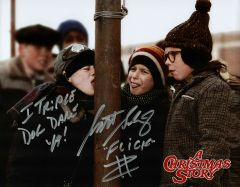 Scott Schwartz autograph 8x10, A Christmas Story, 2 inscriptions