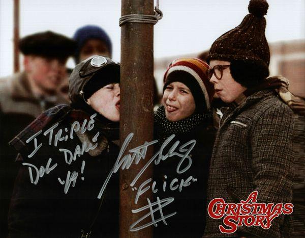 Scott Schwartz autograph 8x10, A Christmas Story, 2 inscriptions