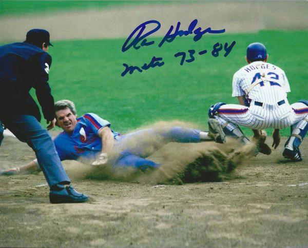 Ron Hodges Autographed 8x10, New York Mets with inscription