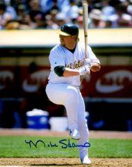 Matt Stairs autograph 8x10, Oakland A's